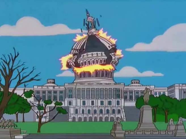 Le (infinite) profezie dei Simpson: dal panico a Capitol Hill a Lady Gaga al Super Bowl