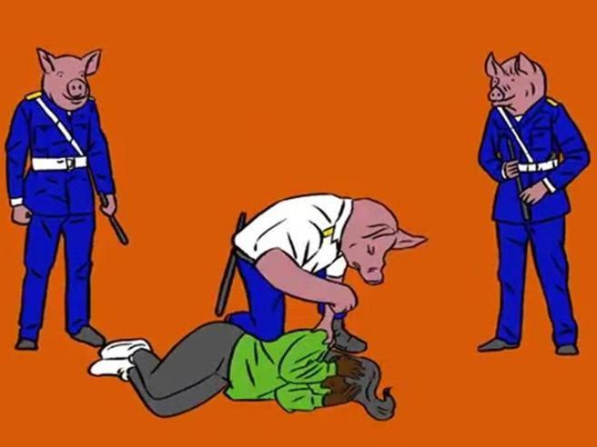 Poliziotti raffigurati come maiali, i sindacati contro Gianna Nannini: «Un oltraggio, si scusi»