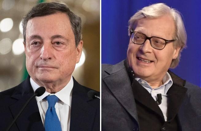 Governo, siparietto Draghi-Sgarbi: «Che …