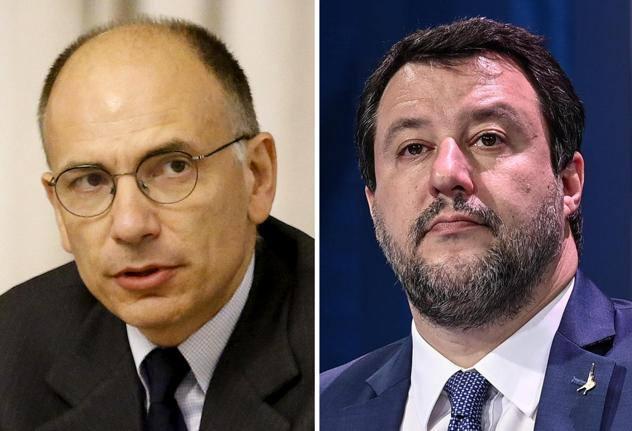 Salvini-Letta, scontro sul green passIl leader della Lega: «Semplificare la vita ai non vaccinati». Il segretario dem: «Non cedere sulle regole»