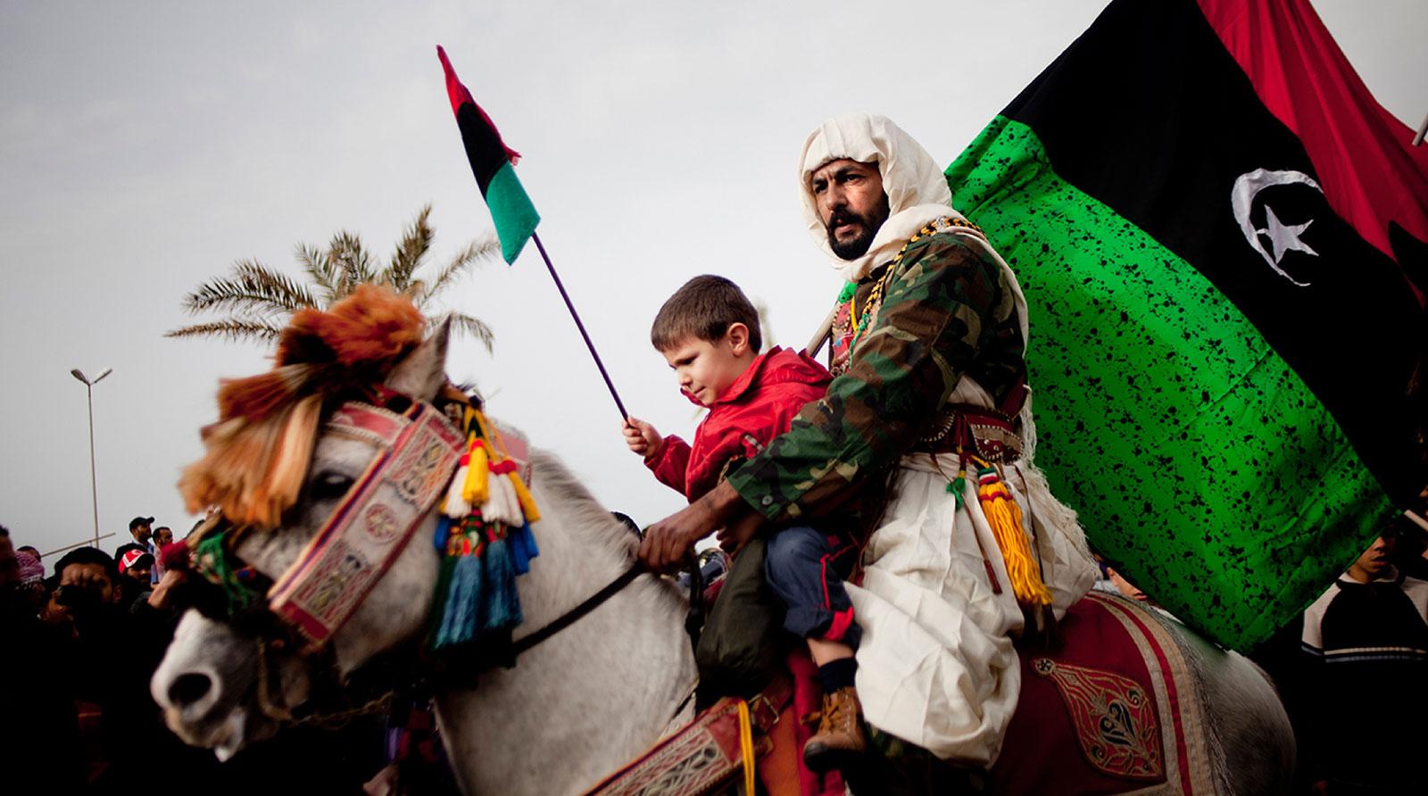 Marcia dell'Esercito dei volontari per liberazione a Bengasi