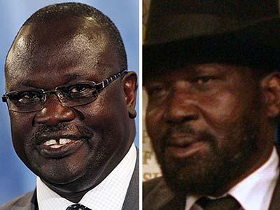 Riek Machar (a sinistra) e Salva Kiir.
