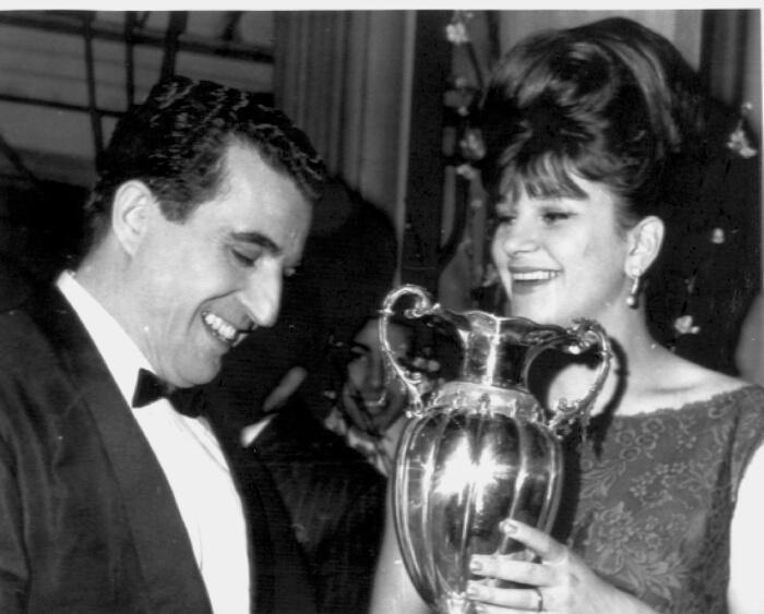 1962 - Sergio Bruni e Milva: arrivarono secondi con la canzone «Tango italiano» (Archivio Rcs)