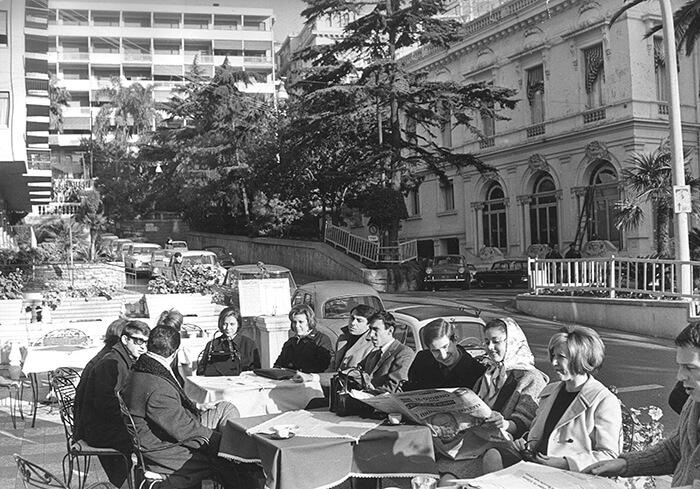 1965 - Nella foto: Betty Curtis, Le Amiche, Gigliola Cinquetti, Bruno Filippini, Nicola Di Bari, Wilma Goich, Robertino, Peppino Gagliardi e Fabrizio Ferretti (Publifoto)