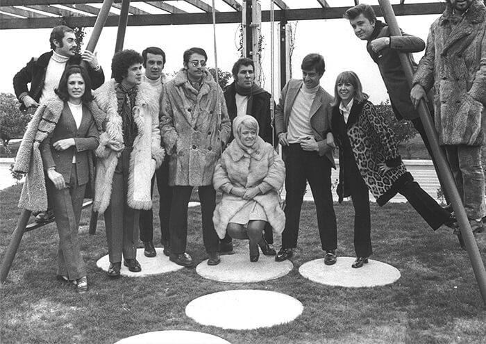 1969 - Alcuni partecipanti del Festival 1969 (Archivio Rcs)